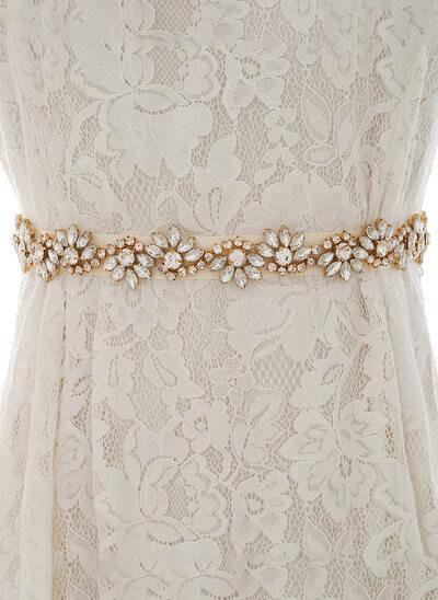Niza/Exquisito Satén Fajas con Diamantes de imitación/La perla de faux