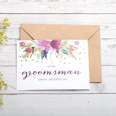 Presentes Padrinhos De Casamento - Moderno Papel cartão Cartão do dia do casamento