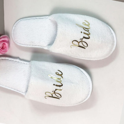 Sposa Regali - Bella velluto tessuto Pantofole