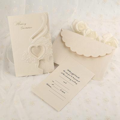 Classic Style Tri-Fold Invitation Cards