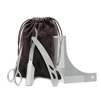 Mládenci Dárky - Klasický Nerezová Ocel Beard Kit