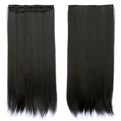 Düz Sentetik Saçlar Saç Eklentilerindeki Klip (Tek parça halinde satılır) 130 gr
