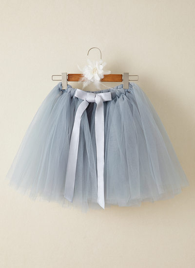 De Baile/Princesa Coquetel Vestidos de Menina das Flores - Tule
