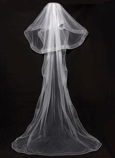 Two-tier Pencil Edge Chapel Bridal Veils
