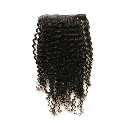 5A Virgin / remy Kinky Curly Menneskehår Clip-in hår-extension 7pcs 100g