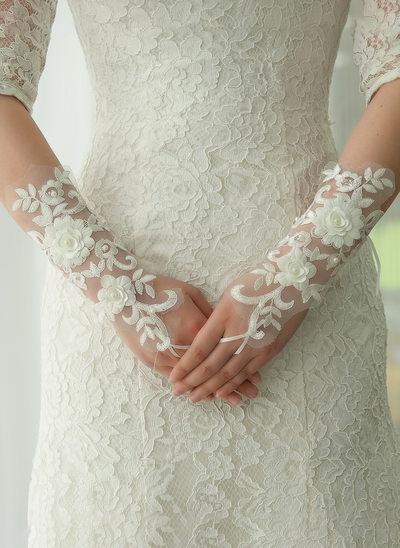 Kant Elbow Lengte Bruids Handschoenen