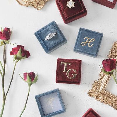 Bruid Cadeaus - Persoonlijke Delicaat Sierlijke Omslag Stempelen fluwelen Slippers
