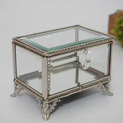 Presentes Da Noiva - Vintage Vidro Liga Caixa de jóias