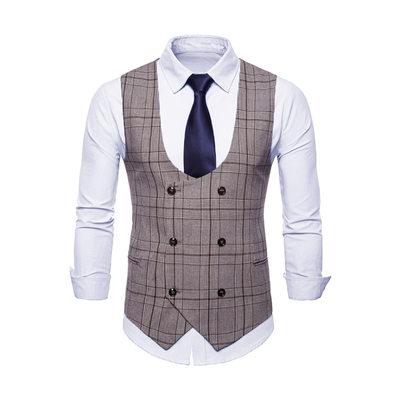 Klassiek linnen Heren vest