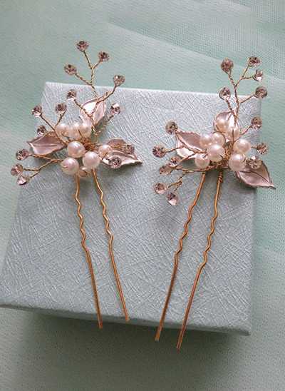 Alloy/Imitation Pearls With Imitation Pearls/Embroidery Hairpins (Set of 5)