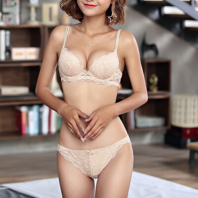 Pretty Chinlon Nylon Demi Bra Sets