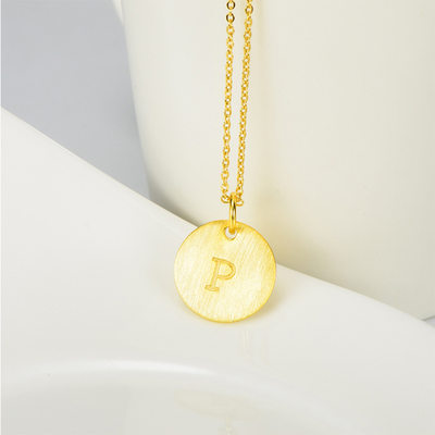 Personalized 18k Gold Plated Letter Initial Necklace