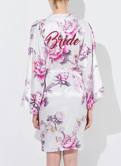 Silk Bride Floral Robes Glitter Print Robes