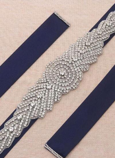 Hermoso Satén Fajas con Diamantes de imitación