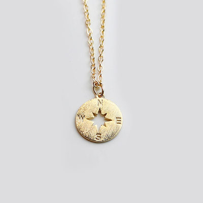 Christmas Gifts For Her - 18k Gold Plated Silver Meaning Engraving/Engraved Pendant Necklace Discs & Circles