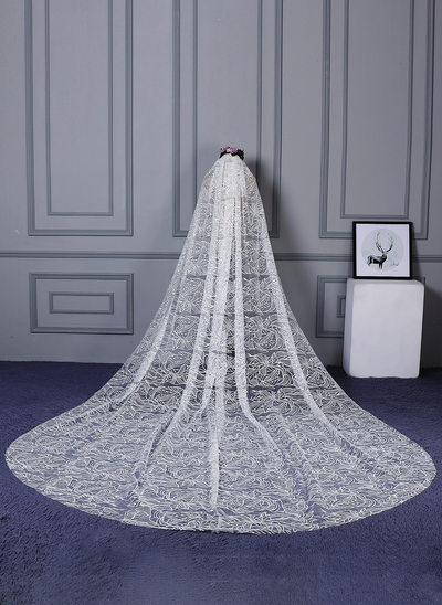 One-tier Cut Edge Cathedral Bridal Veils