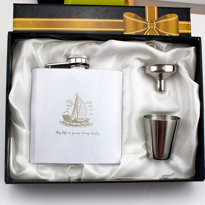Groomsmen Gifts - Personalized Modern Stainless Steel Flask