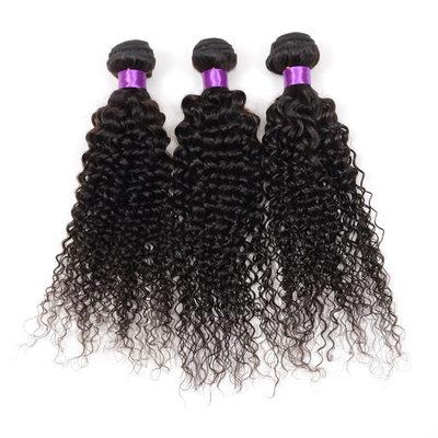 4A Rizado Cabello humano Postizo de cabello humano (Vendido en una sola pieza)