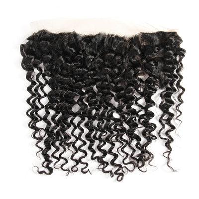 """13""""*4"""" 4A Non remy Profond les cheveux humains Fermeture (Vendu en une seule pièce) 70g"""