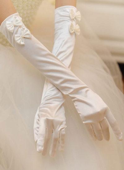 Tyg Opera Längd Handskar Bridal