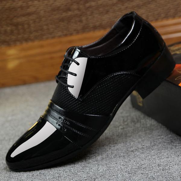 Herren Microfaser-Leder Flache Schuhe Latin Moderner Style Tanzschuhe