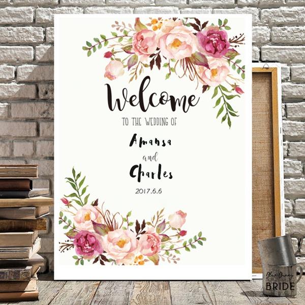 Eenvoudig/Nice/Hart Gevormd Aantrekkelijk Zelfklevend papier Wedding Sign
