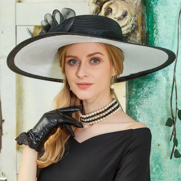 Damer' Utsökt polyester med Fjäder Diskett Hat