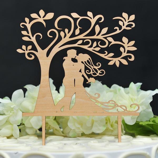 Dancing Couple/Klasyczny Drewno Topper na Tort or Figurka na Tort