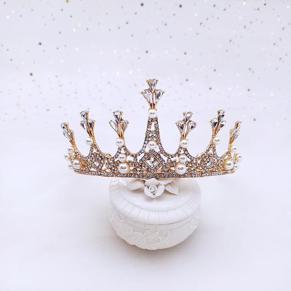Muhteşem Yapay elmas/Alaşım Taçlar Ile Inci (Tek parça Satılan)