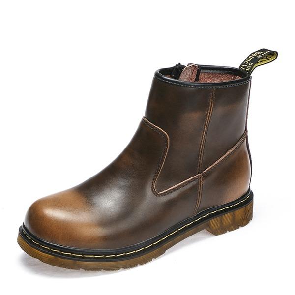 Pánské Pravá Kůže Chukka Casual Pánská obuv Boots