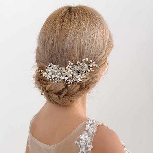 Abbigliamento donna Incredibile lega Pettine & clip di capelli con Perla Veneziano (Venduto in un unico pezzo)
