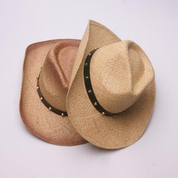 Män Glamorösa/Elegant/Enkel Flätad Sugrör Cowboyhatt