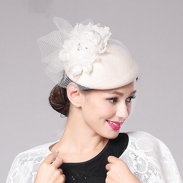 Ladies' Beautiful/Classic Wool With Silk Flower Fascinators