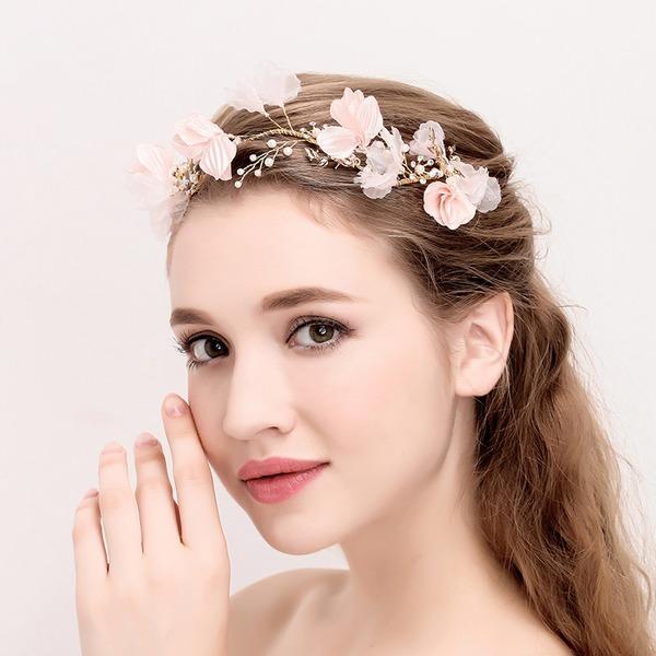 Senhoras Clássico Liga/Flor de seda Tiaras