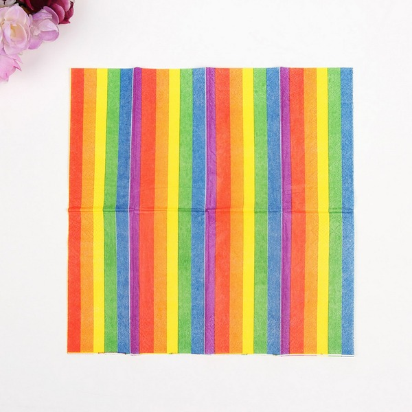 Beautiful Rainbow Dinner Napkins (Set of 50 )