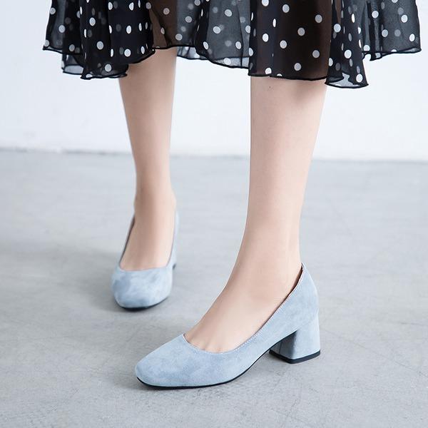 Dla kobiet Zamsz Obcas Slupek Czólenka أحذية