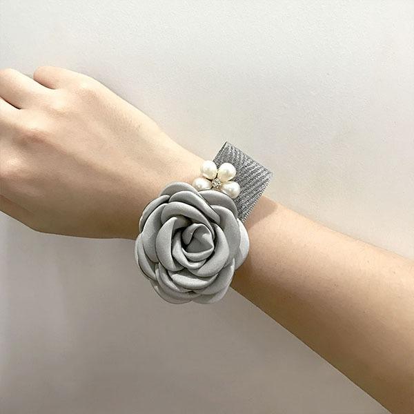 Vivificante Flor de seda Conjuntos de flores - Buquê de pulso/Alfinete de lapela