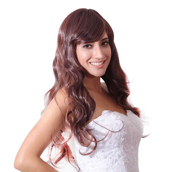 High temperature Wavy Long Layered Synthetic Wigs