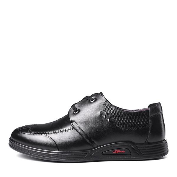 Hommes Similicuir Dentelle Décontractée Travail Chaussures Oxford pour hommes