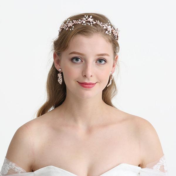 Filles Magnifique Strass/Alliage/De faux pearl Bandeaux avec Strass/Perle Vénitienne (Vendu dans une seule pièce)