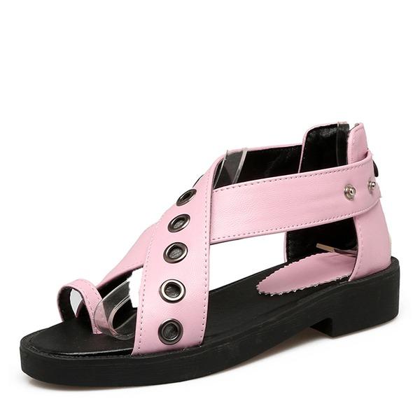 Donna PU Senza tacco Sandalo con Rivet scarpe
