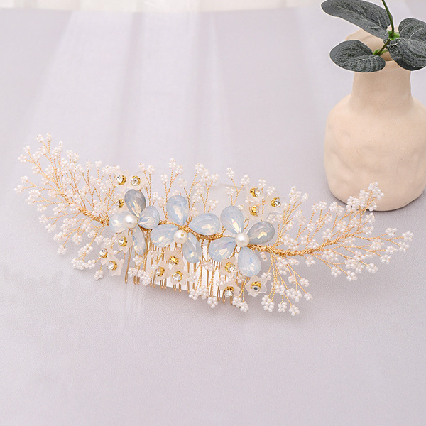 Ladies Romantic Rhinestone/Alloy/Pearls Headbands (Sold in single piece)