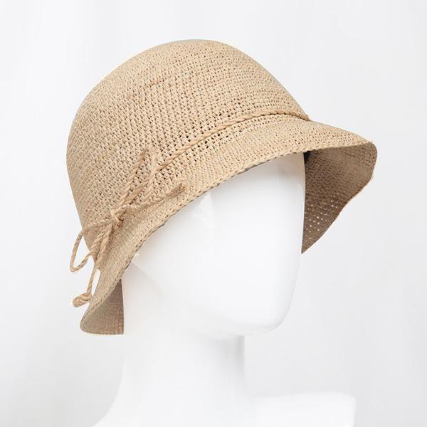 Signore Moda/Stile classico Rafia paglia con Bowknot Cappello di paglia