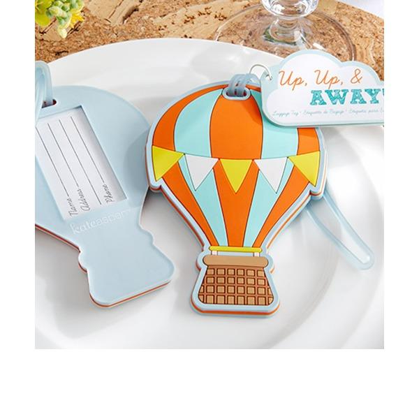 Fire ballon Design Gummi Baggagemærker