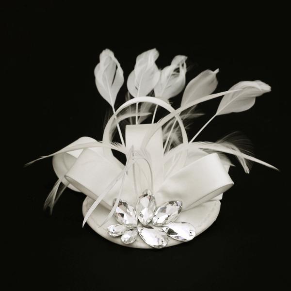Dames Spécial Tissu avec Feather/Strass Chapeaux de type fascinator/Chapeaux Tea Party