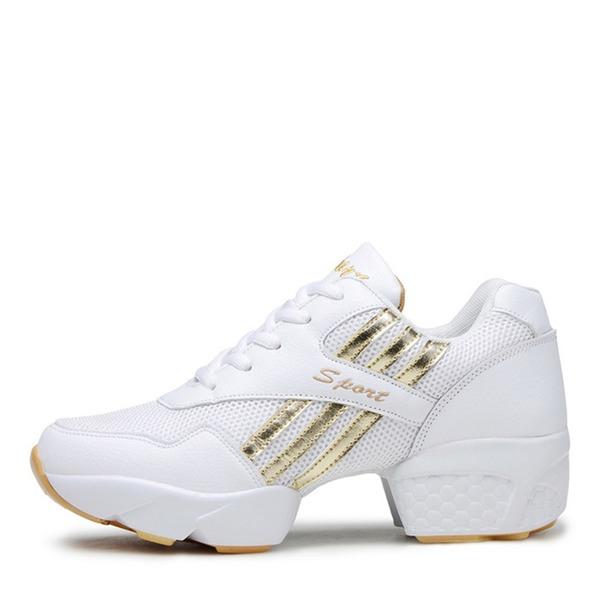 Misto Similpelle Mesh Sneakers stile moderno Scarpe da Ginnastica Prova Scarpe da ballo