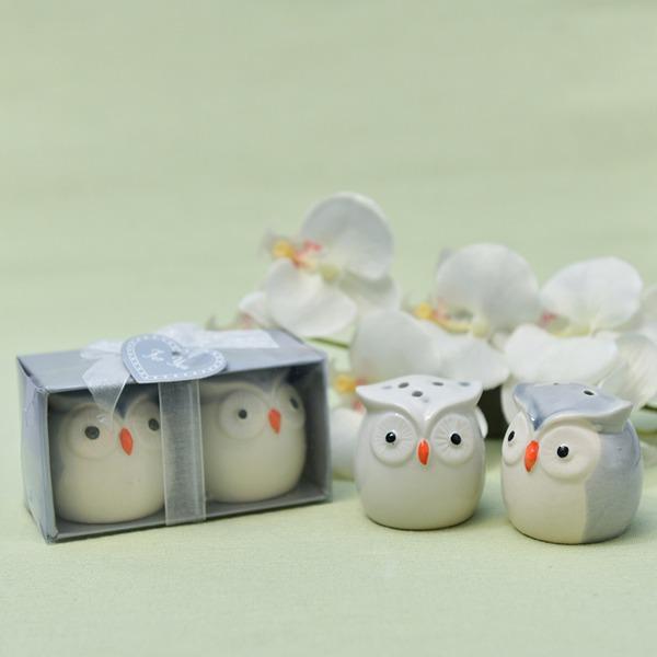 """""""Älskar fåglar i fönstret"""" älskvärda fåglar Keramik Salt & Pepparkar (Säljs i ett enda stycke)"""
