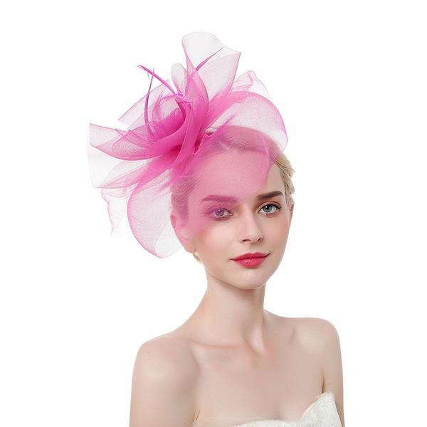 Dames Style Classique/Élégante/Accrocheur Feather/Fil net avec Feather Chapeaux de type fascinator