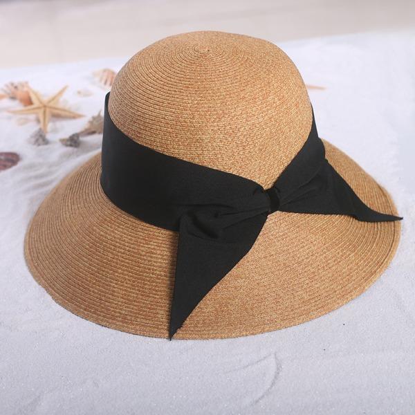 Ladies ' Nádherný/Móda Tkanina S Bowknot Slaměný klobouk