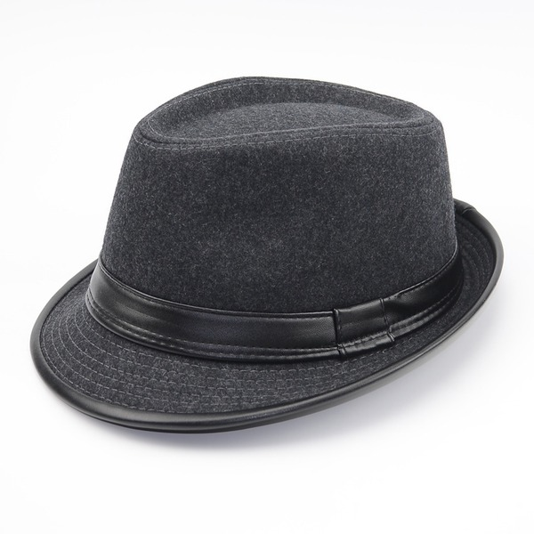 Hommes Le plus chaud Feutre/Pu Chapeau Fedora/Kentucky Derby Des Chapeaux